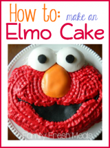 How to make an Elmo Cake - FamilyFreshMeals.com -