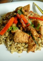 Thai Garlic & Basil Chicken – optional vegetarian version included