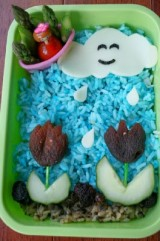 Bento Love: Showers & Peeled Flowers