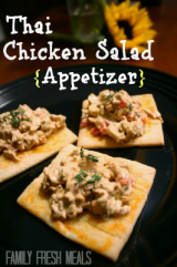 Thai Chicken Salad Appetizer w/ vegetarian option (Pillsbury)