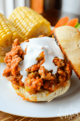 Buffalo Sloppy Joes (w/ vegetarian option)