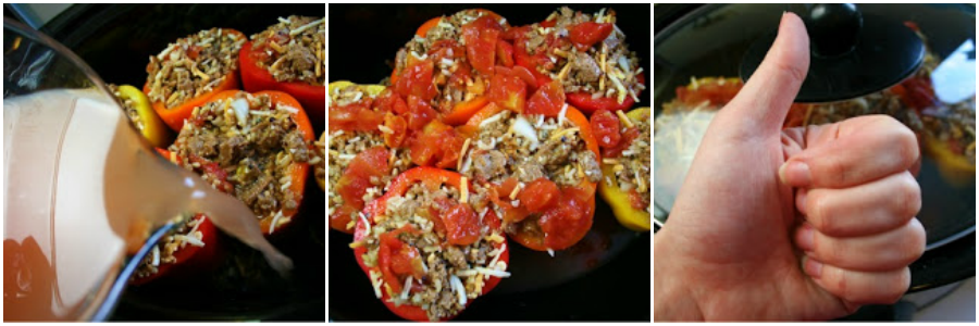 Crockpot Stuffed Bell Peppers - Step 5-7