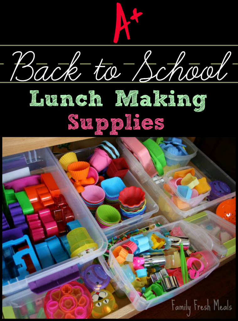 Awesome back to school lunch supplies - FamilyFreshMeals.com