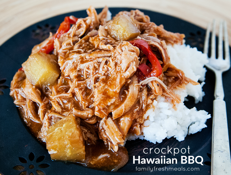 Hawaiian BBQ Bell Pepper Crockpot Chicken - Yummy family meal - Crockpot Hawaiian BBQ