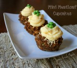 Mini Meatloaf Cupcakes (with vegetarian option)