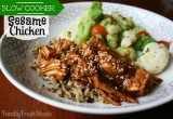 Sweet Slow Cooker Sesame Chicken Recipe