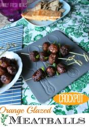 Crockpot Orange Glazed Meatballs