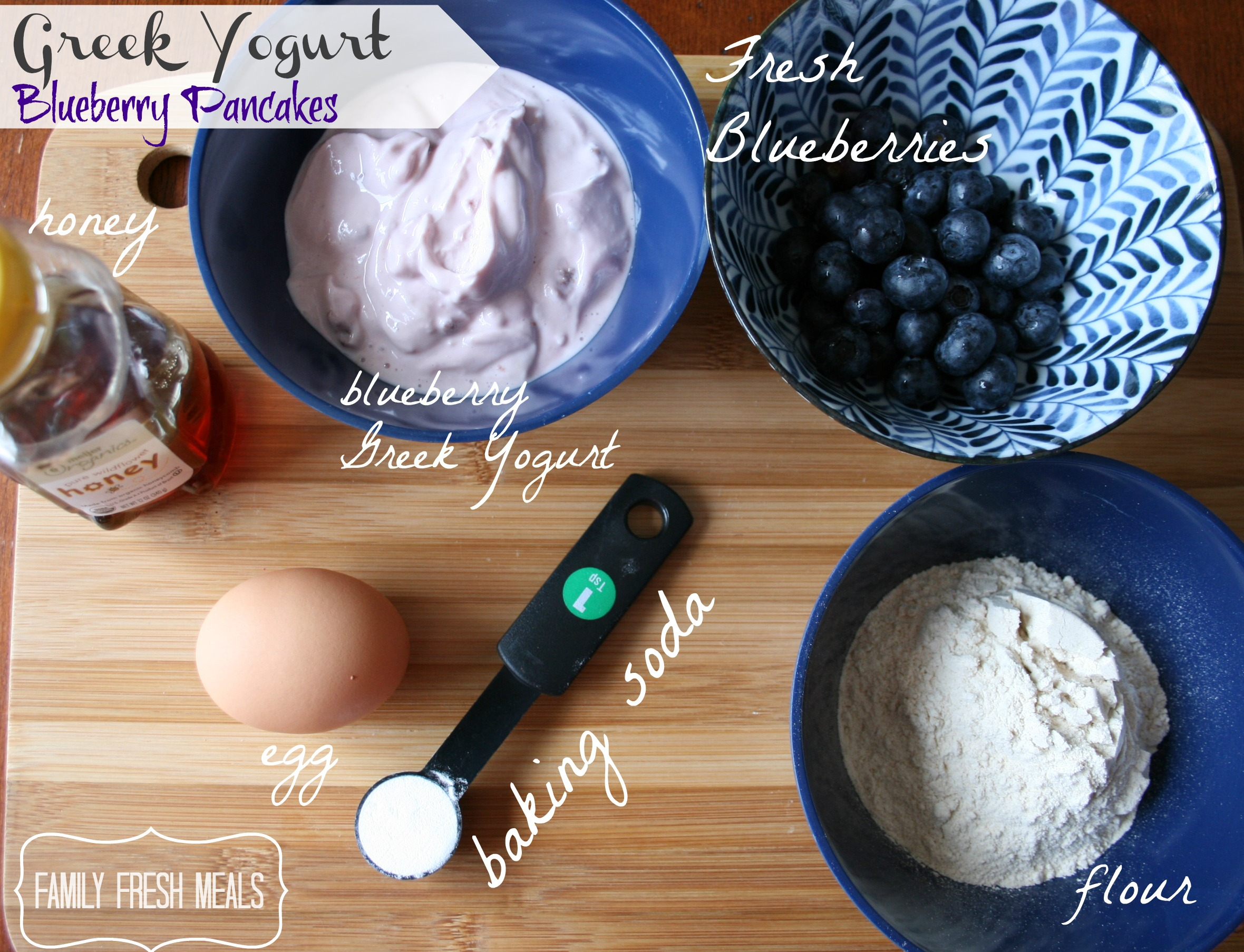 Ingredients for Greek Yogurt Pancakes