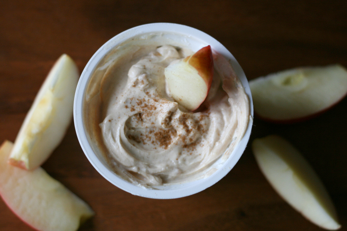 Greek yogurt peanut butter dip