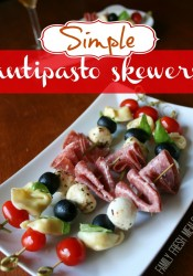 Easy Antipasto Skewers