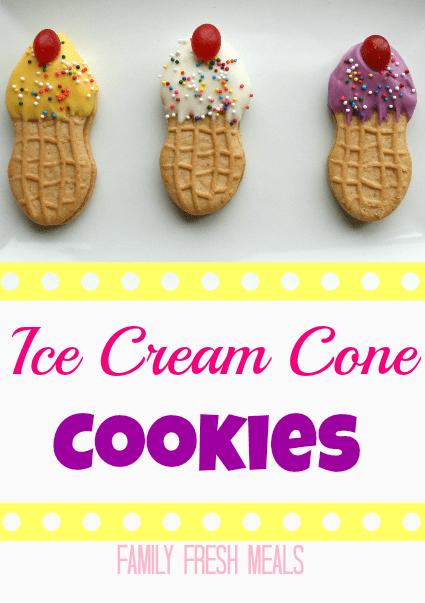 Ice Cream Cone Cookies - Fun edible craft -  FamilyFreshMeals.com