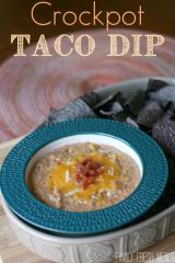 Cheesy Crockpot Taco Dip - FamilyFreshMeals.com