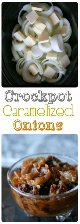 Crockpot Caramelized Onions - Collage 1