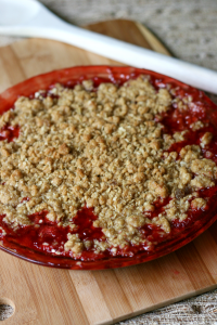 Strawberry Cobbler - Out of the oven