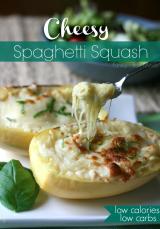 Cheesy Spaghetti Squash - FamilyFreshMeals.com