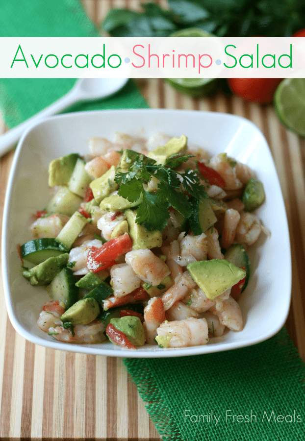 Avocado Shrimp Salad --_-- FamilyFreshMeals.com