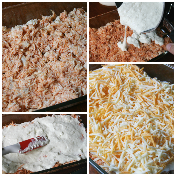 Cheesy Hot Wing Dip Steps