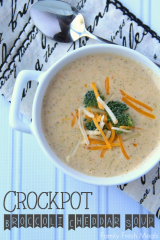 Crockpot Broccoli Cheddar Soup