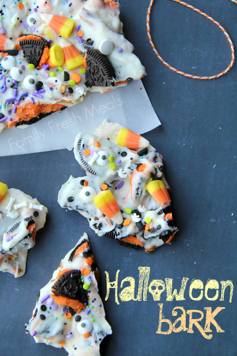 Halloween Bark - Fun Halloween Food for kids! --