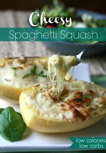 Cheesy Spaghetti Squash FamilyFreshMeals.com