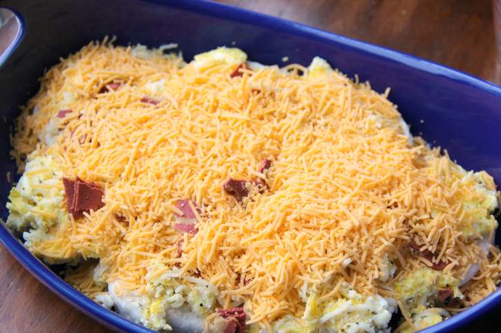 Cheesy Biscuit Breakfast Casserole - Step 4
