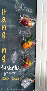 Hanging Baskets for More Kitchen Storage