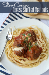 Slow Cooker Cheese Stuffed Meatballs - ___