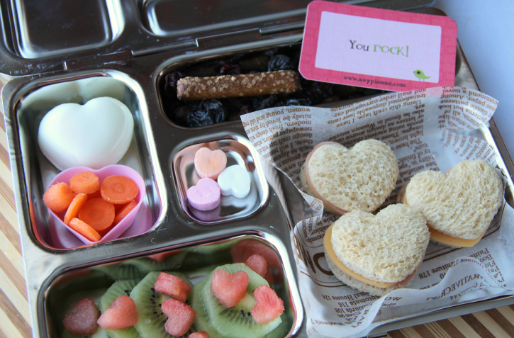 Valentine's day Lunchbox Ideas - Mini Heart Shaped Sandwiches
