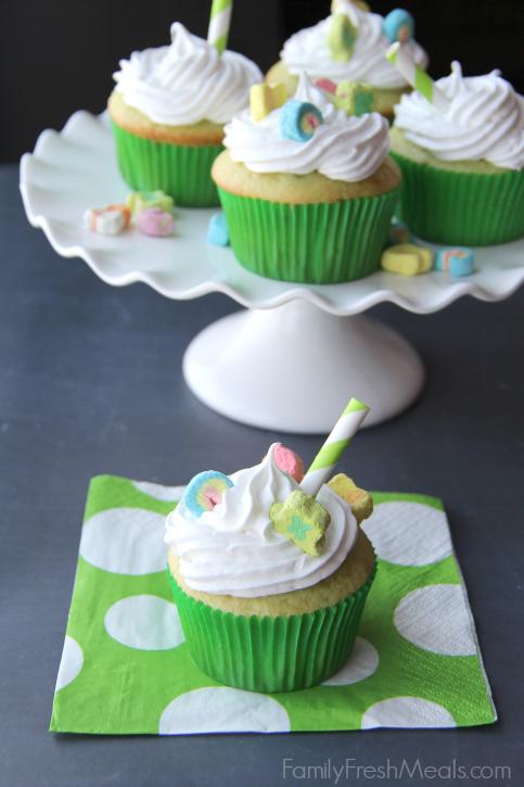 Shamrock Shake Cupcakes With Cake Mix