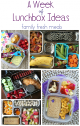 A Week of Lunchbox Ideas - FamilyFreshMeals.com
