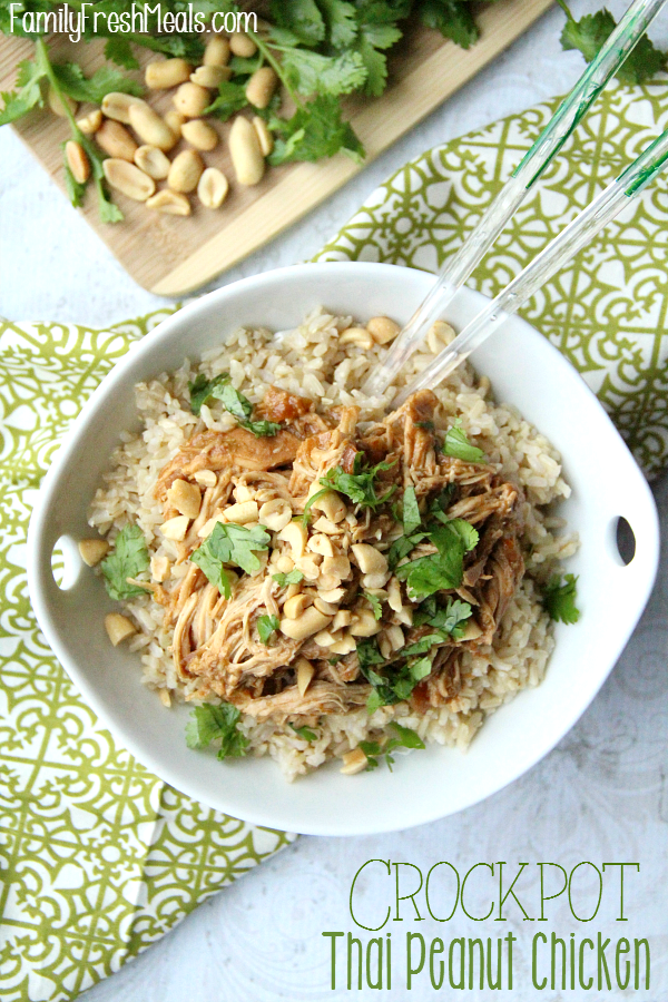 Crockpot Thai Peanut Chicken Recipe - Family Fresh Meals