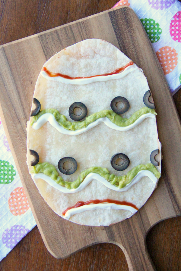Easter Egg Quesadilla - Famil yFreshMeals.com
