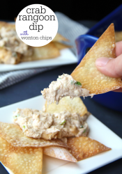 Crab Rangoon Dip with Wonton Chips
