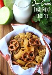Crockpot Fiesta Ranch Chex Mix