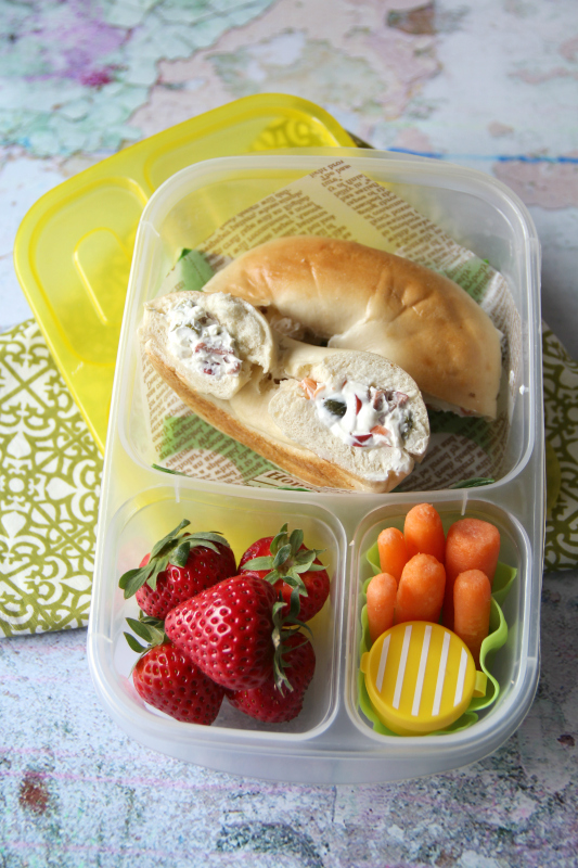 Stuffed Bagel Sandwiches - Family Fresh Meals