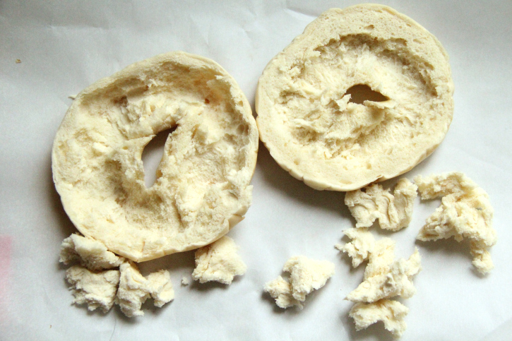 Stuffed Bagel Sandwiches - step 1