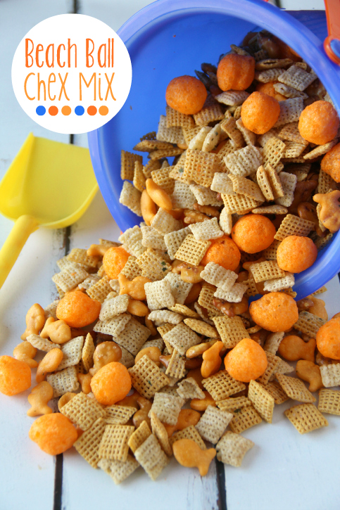 Summer Snack: Beach Ball Chex Mix -FamilyFreshMeals.com