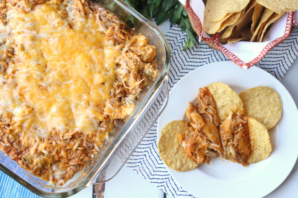 Cheesy Chicken Enchilada Dip - FamilyFreshMeals.com