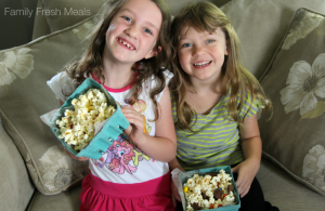 DIY Movie Night Popcorn Bar - FamilyFreshMeals.com -
