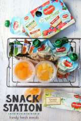Snack station ideas from FamilyFreshMeals.com