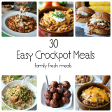 30 easy crockpot meals for back to school