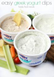 Easy Greek Yogurt Dips – 3 Ways!
