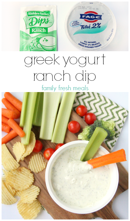 greek yogurt  ranch dip - recipe - familyfreshmeals.com