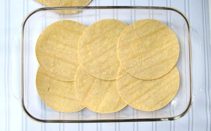 Cheesy Chicken Enchilada Casserole