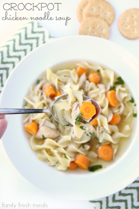 The Best Crockpot Chicken Noodle Soup - Family Fresh Meals