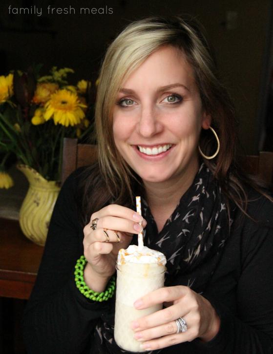 Salted Caramel Smoothie - FamilyFreshMeals.com - best smoothie ever!