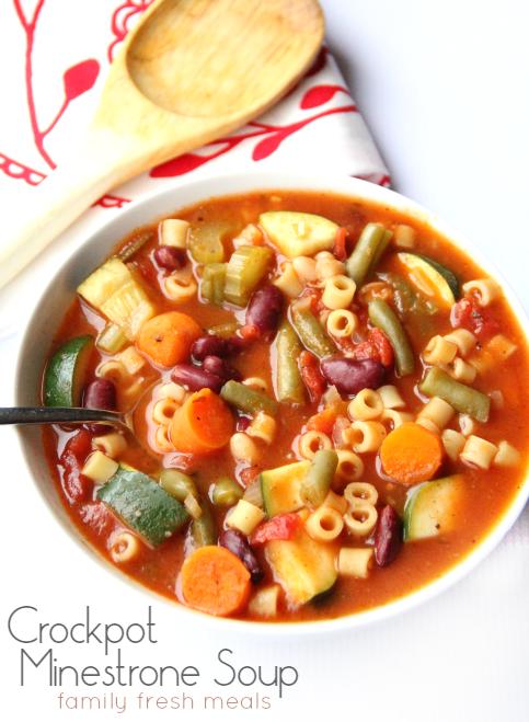 The Best Minestrone Soup - FamilyFreshMeals.com -