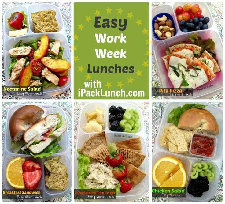 12 Easy Work Lunch ideas via ipacklunch.com