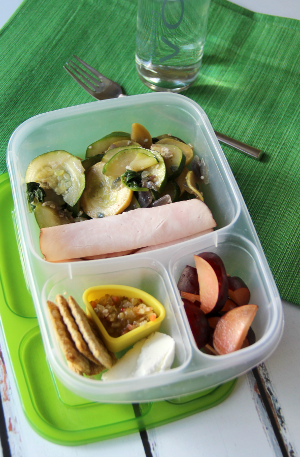 50 healthy work lunch ideas - FamilyFreshMeals.com - Leftover vegetable pie packed for lunch