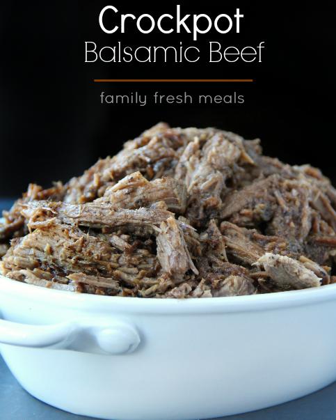 Easy Crockpot Balsamic Beef Recipe - FamilyFreshMeals.com - FB2